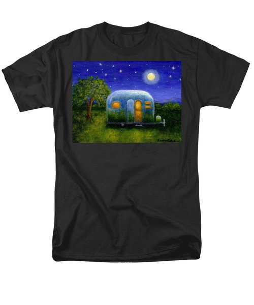 Airstream Camper Under The Stars Men's T-Shirt  (Regular Fit) by Sandra Estes