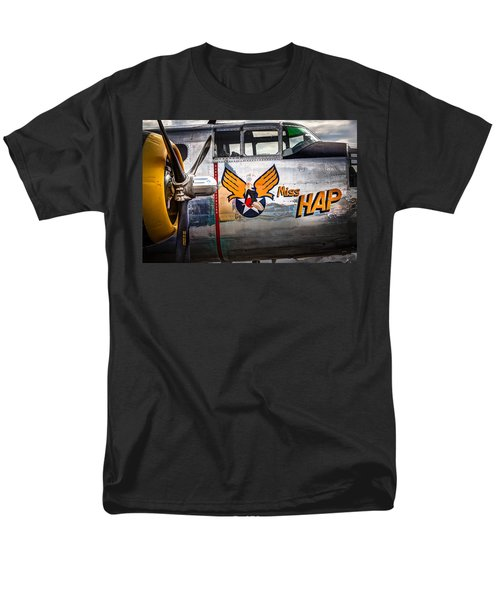 Aircraft Nose Art - Pinup Girl - Miss Hap Men's T-Shirt  (Regular Fit)