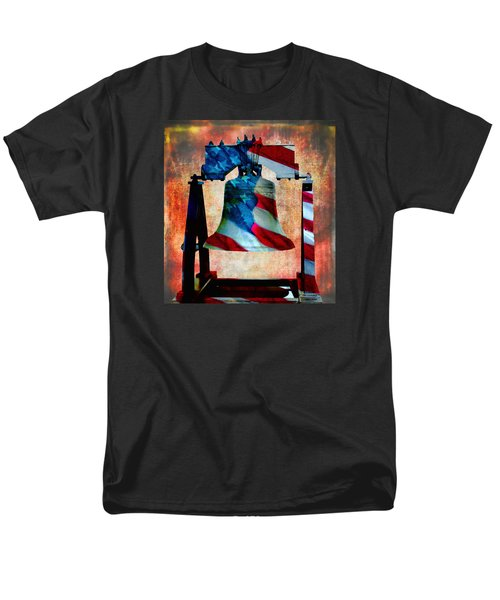 Liberty Bell Art Smooth All American Series Men's T-Shirt  (Regular Fit) by Lesa Fine