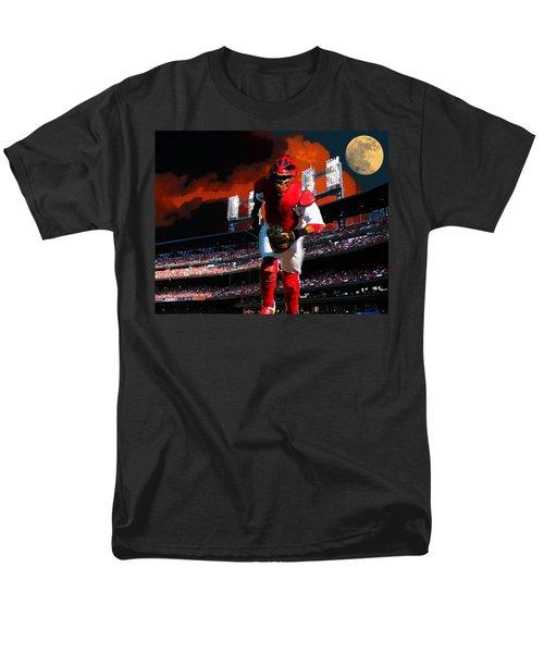 Men's T-Shirt  (Regular Fit) featuring the photograph All Star Yadier Molina by John Freidenberg