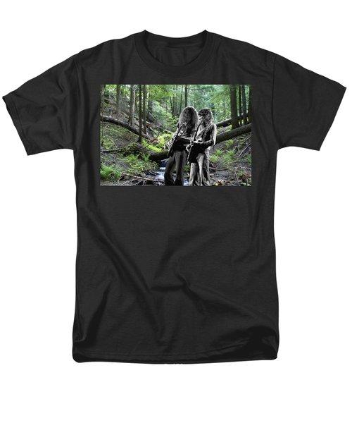 Men's T-Shirt  (Regular Fit) featuring the photograph Allen And Steve On Mt. Spokane 2 by Ben Upham