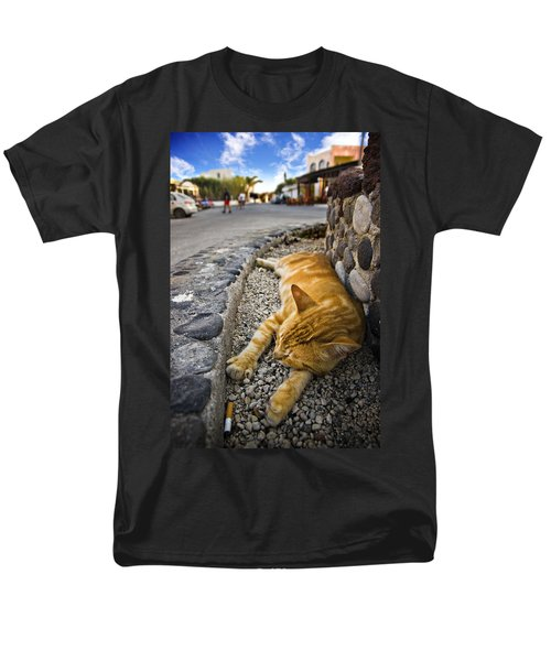Men's T-Shirt  (Regular Fit) featuring the photograph Alley Cat Siesta by Meirion Matthias