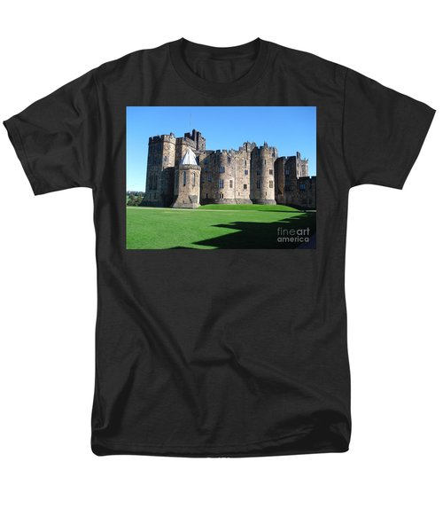 Men's T-Shirt  (Regular Fit) featuring the photograph Alnwick Castle Castle Alnwick Northumberland by Paul Fearn
