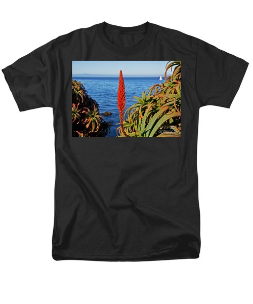 Aloe Arborescens Flowering At Pacific Grove Men's T-Shirt  (Regular Fit) by Susan Wiedmann