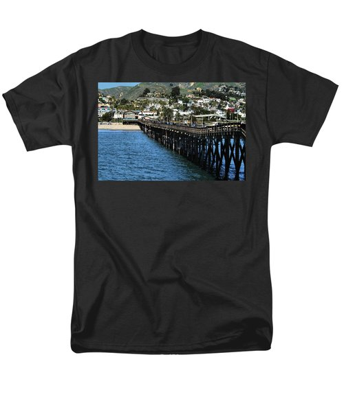 Men's T-Shirt  (Regular Fit) featuring the photograph Along The Pier by Michael Gordon