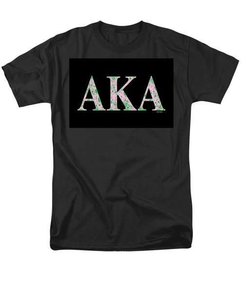 Alpha Kappa Alpha - Black Men's T-Shirt  (Regular Fit) by Stephen Younts