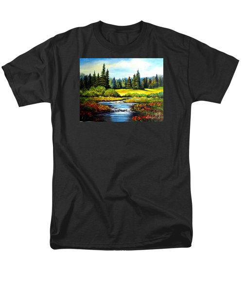 Alpine Meadow Men's T-Shirt  (Regular Fit) by Hazel Holland