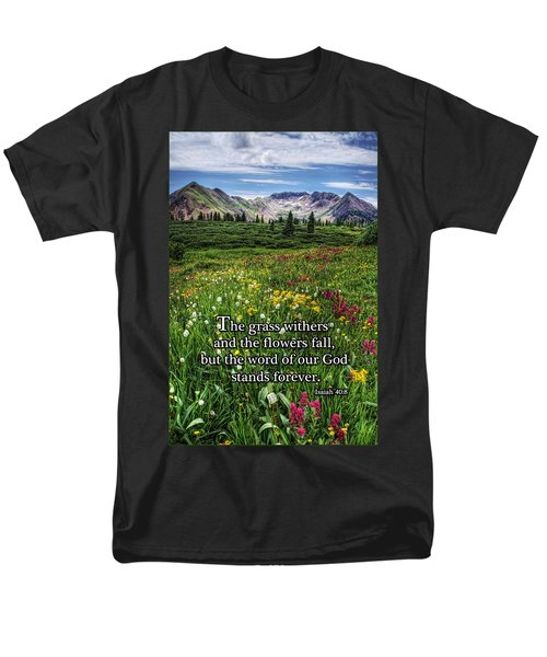 Men's T-Shirt  (Regular Fit) featuring the photograph Alpine Meadow by Priscilla Burgers