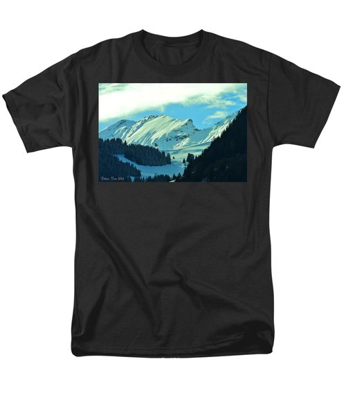 Alps Green Profile Men's T-Shirt  (Regular Fit) by Felicia Tica