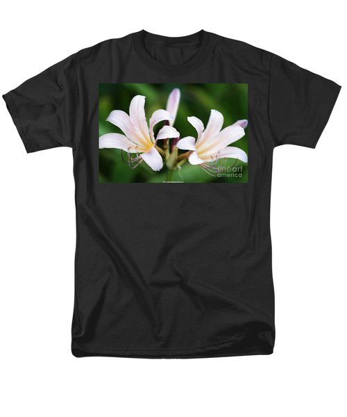 Men's T-Shirt  (Regular Fit) featuring the photograph Amaryllis Belladonna Naked Ladies by PainterArtist FIN