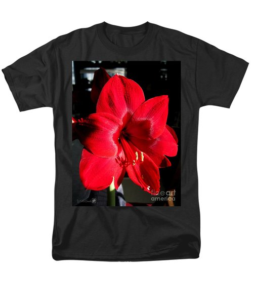 Men's T-Shirt  (Regular Fit) featuring the photograph Amaryllis Named Black Pearl by J McCombie