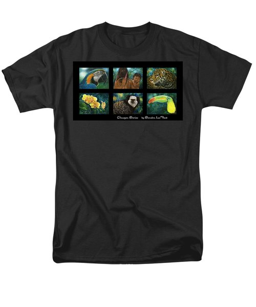 Men's T-Shirt  (Regular Fit) featuring the mixed media Amazon Series Collage by Sandra LaFaut