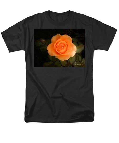 Men's T-Shirt  (Regular Fit) featuring the photograph Amber Flush Rose by Hanza Turgul