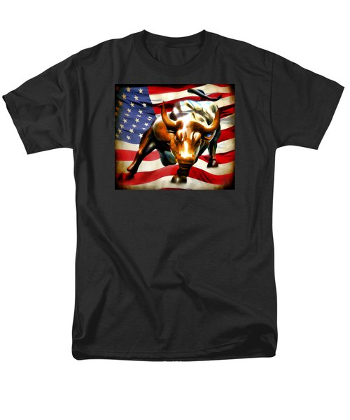America Taking Charge Men's T-Shirt  (Regular Fit) by Athena Mckinzie