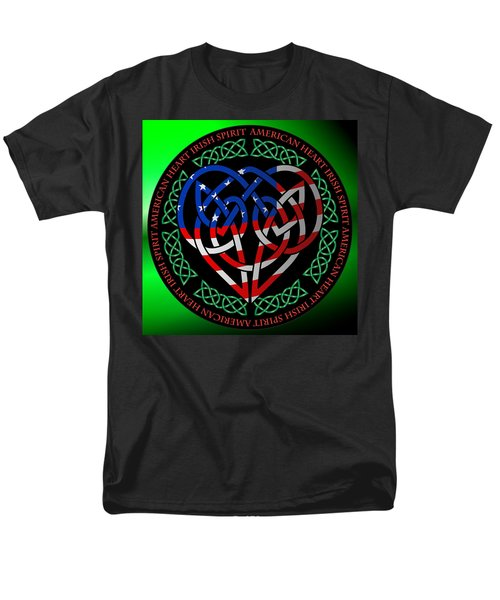 Men's T-Shirt  (Regular Fit) featuring the digital art American Celtic Heart by Ireland Calling