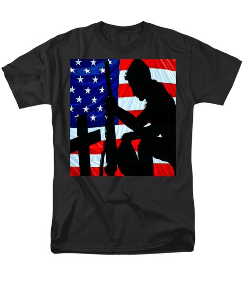A Time To Remember American Flag At Rest Men's T-Shirt  (Regular Fit) by Bob Orsillo