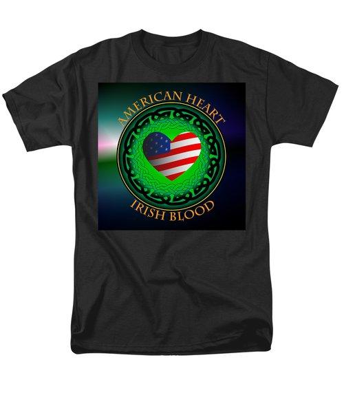 American Heart Irish Blood Men's T-Shirt  (Regular Fit) by Ireland Calling