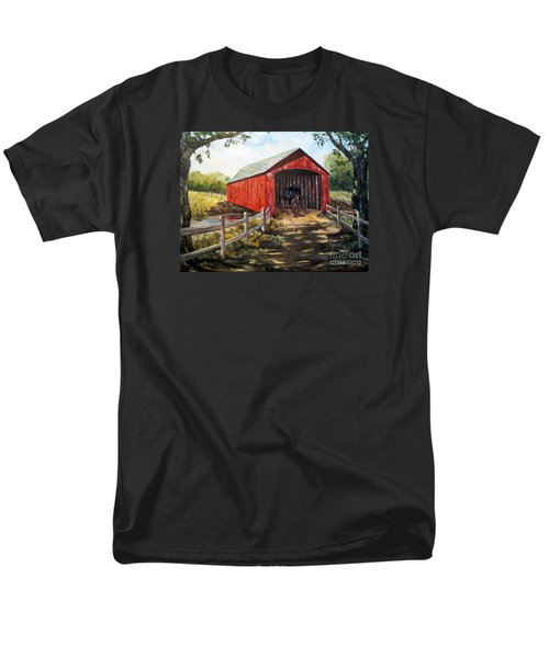 Men's T-Shirt  (Regular Fit) featuring the painting Amish Country by Lee Piper