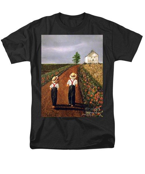 Amish Road Men's T-Shirt  (Regular Fit) by Linda Simon