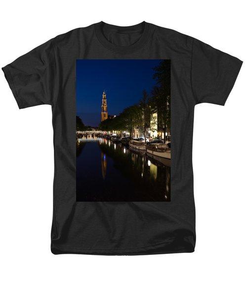 Amsterdam Blue Hour Men's T-Shirt  (Regular Fit) by Georgia Mizuleva