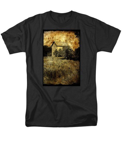 Men's T-Shirt  (Regular Fit) featuring the photograph An Aged Photo Of The Old Waterloo Mill by Janice Adomeit