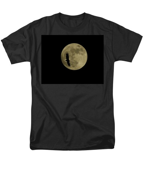 Men's T-Shirt  (Regular Fit) featuring the photograph An Eagle And The Moon by Mark Alan Perry