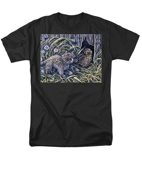 And The Grasshopper Says.. Owl Be Seeing U Men's T-Shirt  (Regular Fit) by Gail Butler