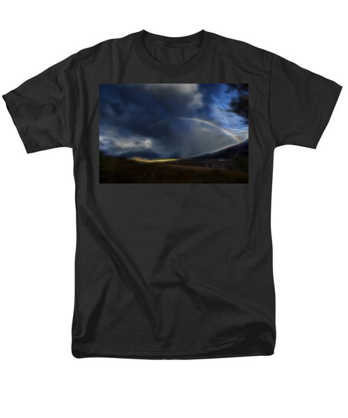 Men's T-Shirt  (Regular Fit) featuring the digital art Andean Rainbow by William Horden