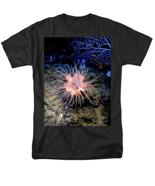 Men's T-Shirt  (Regular Fit) featuring the photograph Anemone Sea Life Sea Ocean Water Underwater by Paul Fearn