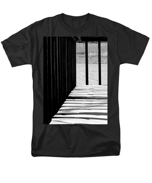 Men's T-Shirt  (Regular Fit) featuring the photograph Angles And Shadows - Black And White by Shawna Rowe