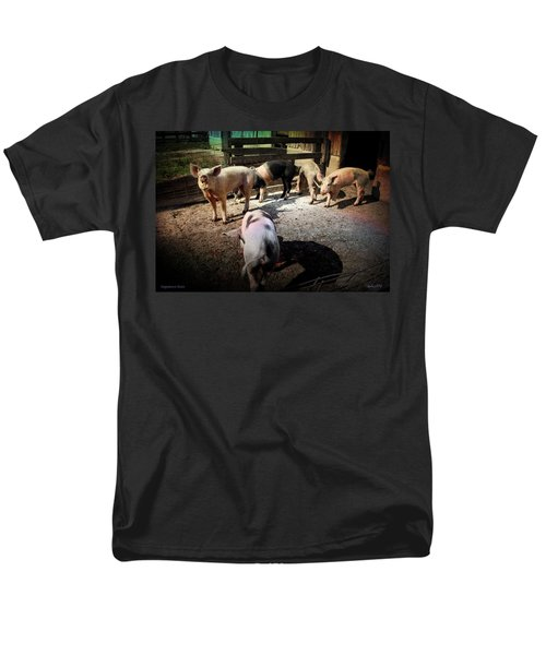 Men's T-Shirt  (Regular Fit) featuring the photograph Angustown Piggies by Cynthia Lassiter