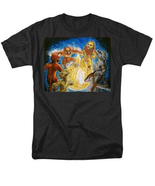 Animal Totem Dancers - Transformed Men's T-Shirt  (Regular Fit) by Samantha Geernaert