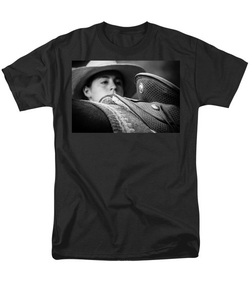 Men's T-Shirt  (Regular Fit) featuring the photograph Annie's Saddle by Steven Bateson