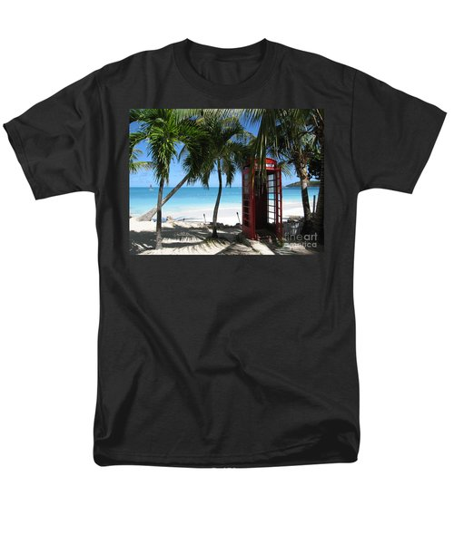 Antigua - Phone Booth Men's T-Shirt  (Regular Fit) by HEVi FineArt