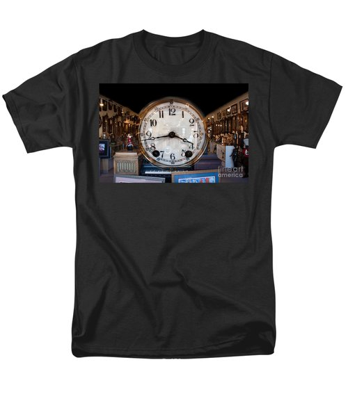 Men's T-Shirt  (Regular Fit) featuring the photograph Antique Clock Store by Gunter Nezhoda