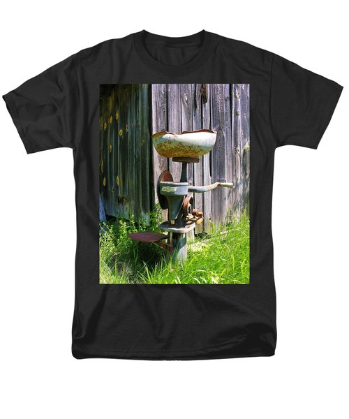 Men's T-Shirt  (Regular Fit) featuring the photograph Antique Cream Separator by Sherman Perry