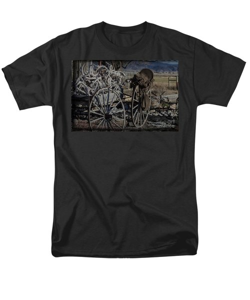 Antlers And My Saddle Men's T-Shirt  (Regular Fit) by Janice Rae Pariza