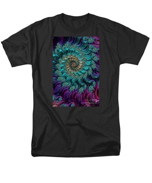 Aqua Swirl Men's T-Shirt  (Regular Fit) by Steve Purnell