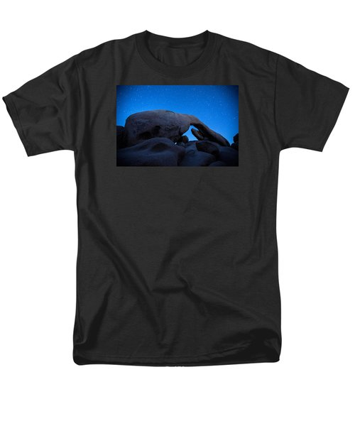 Men's T-Shirt  (Regular Fit) featuring the photograph Arch Rock Starry Night 2 by Stephen Stookey