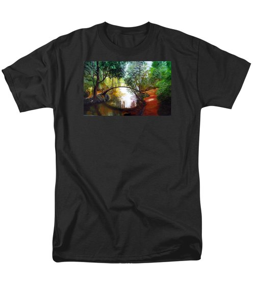 Arched Bridge Over Brilliant Waters Men's T-Shirt  (Regular Fit) by LaVonne Hand