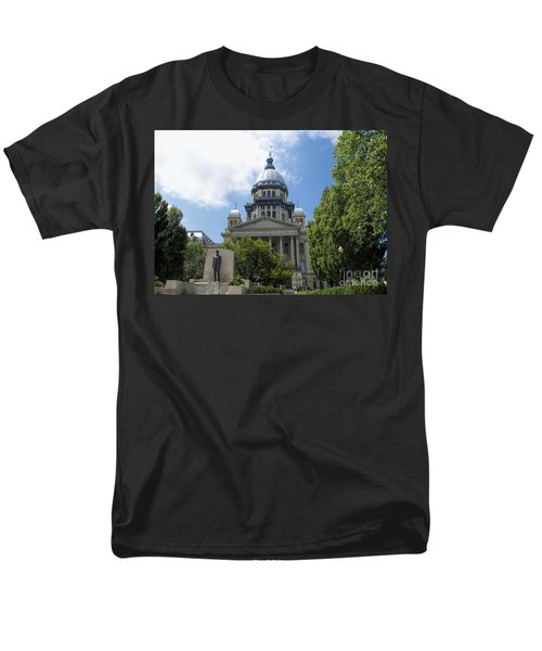 Architecture - Illinois State Capitol  - Luther Fine Art Men's T-Shirt  (Regular Fit) by Luther Fine Art