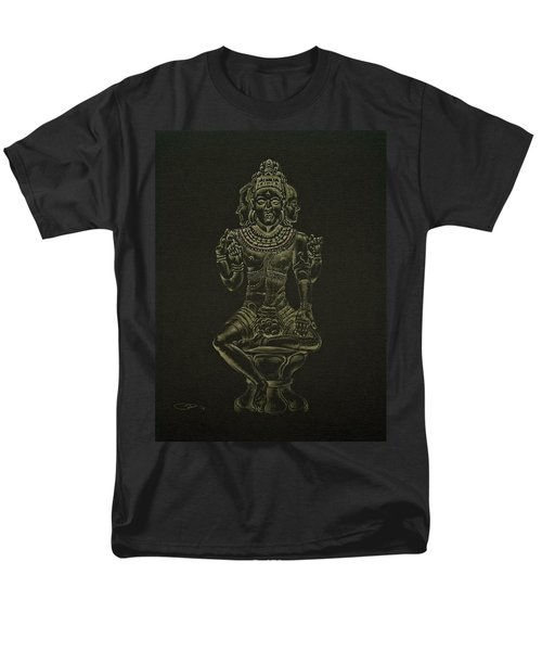 Men's T-Shirt  (Regular Fit) featuring the drawing Ardhanarishvara I by Michele Myers