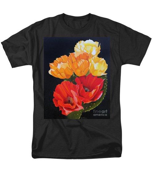 Arizona Blossoms - Prickly Pear Men's T-Shirt  (Regular Fit) by Debbie Hart