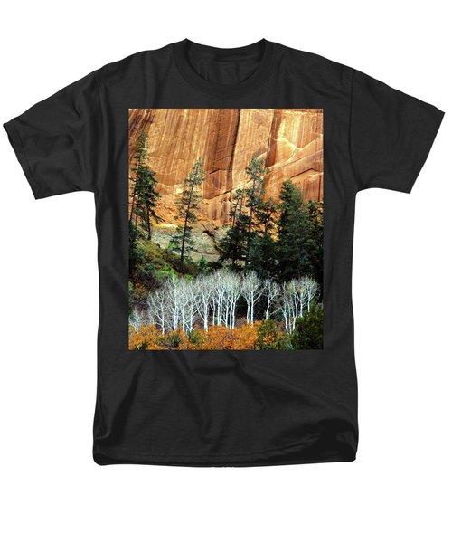 Arizona's Betatkin Aspens Men's T-Shirt  (Regular Fit) by Ed  Riche