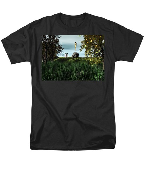 Men's T-Shirt  (Regular Fit) featuring the digital art Arrival Of The Deceiver by John Alexander