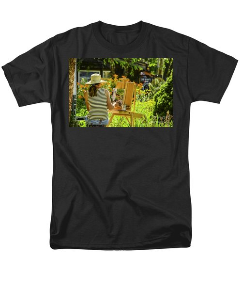Art In The Garden Men's T-Shirt  (Regular Fit) by Mary Carol Story