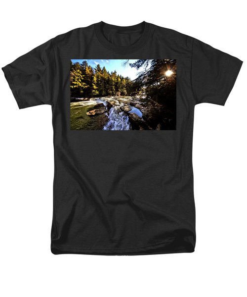 As Lawrence Welk Used To Say-ah Waterfall Waterfall Men's T-Shirt  (Regular Fit) by Robert McCubbin