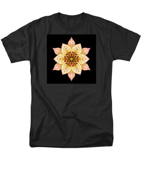 Men's T-Shirt  (Regular Fit) featuring the photograph Asiatic Lily Flower Mandala by David J Bookbinder