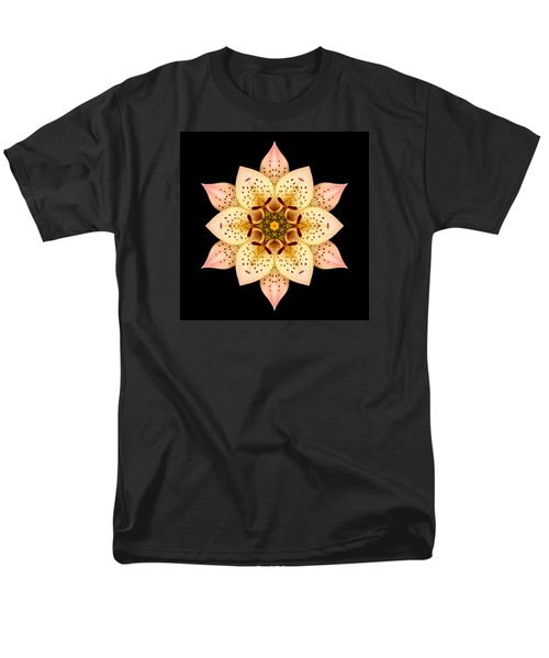 Asiatic Lily Flower Mandala Men's T-Shirt  (Regular Fit)