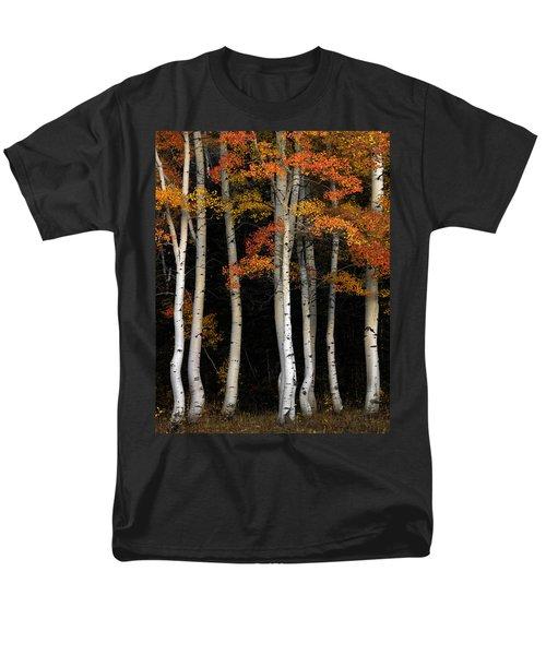 Aspen Contrast Men's T-Shirt  (Regular Fit) by Leland D Howard